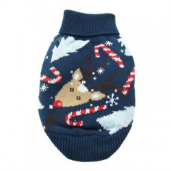 Reindeer Holiday Ugly Dog Sweater 100% Pure Combed Cotton