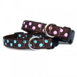 Chocolate/ Pink Dot Grosgrain Collection