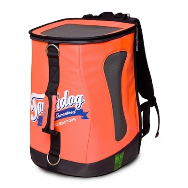 Cantaloupe Orange Touchdog Ultimate-Travel Airline Approved Backpack Carrying Water Resistant Pet Carrier